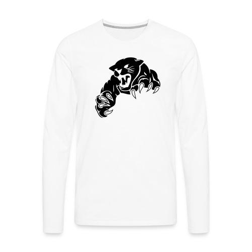 panther custom team graphic - Men's Premium Long Sleeve T-Shirt