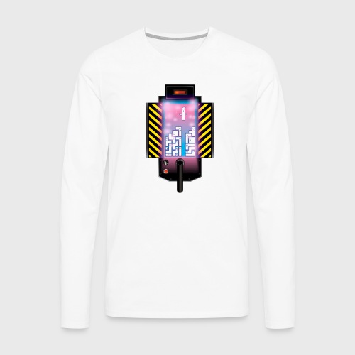 Ghostbusters Tetris Fair Use Mashup - Men's Premium Long Sleeve T-Shirt