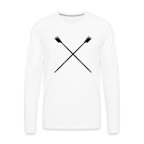 ROW crew oars design for crew team - Men's Premium Long Sleeve T-Shirt