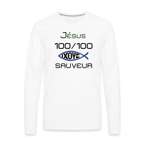 jesus100 - Men's Premium Long Sleeve T-Shirt
