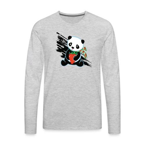 Cute Kawaii Panda T-shirt by Banzai Chicks - Men's Premium Long Sleeve T-Shirt