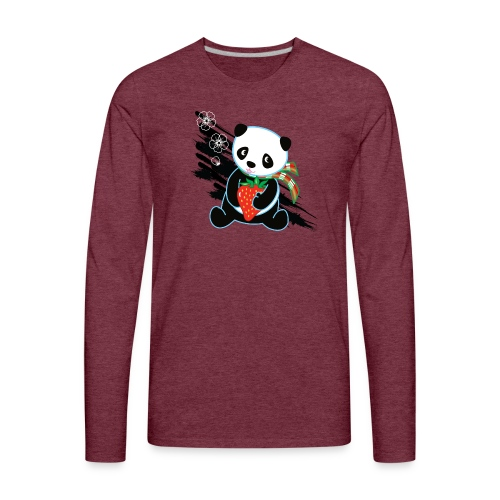Cute Kawaii Panda T-shirt by Banzai Chicks - Men's Premium Long Sleeve T-Shirt