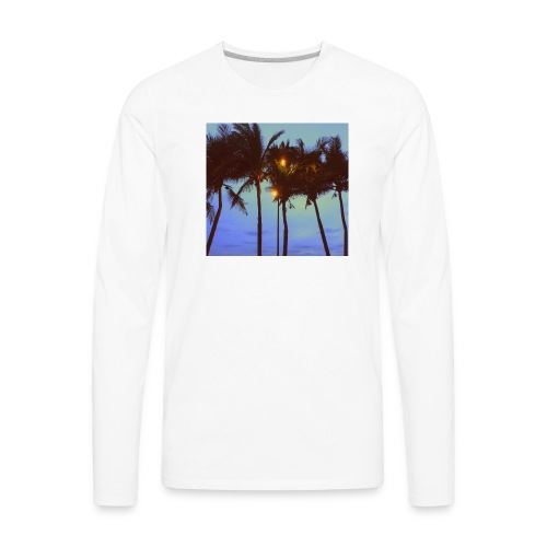 Palm Trees - Men's Premium Long Sleeve T-Shirt
