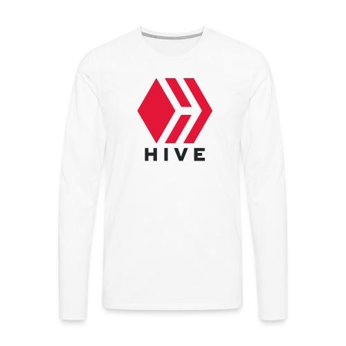 Hive Text - Men's Premium Long Sleeve T-Shirt