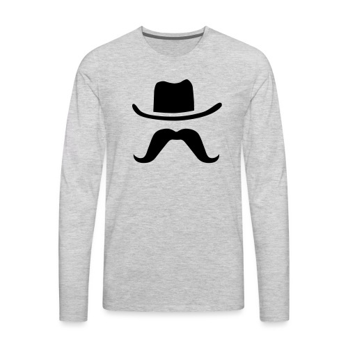 Hat & Mustache - Men's Premium Long Sleeve T-Shirt