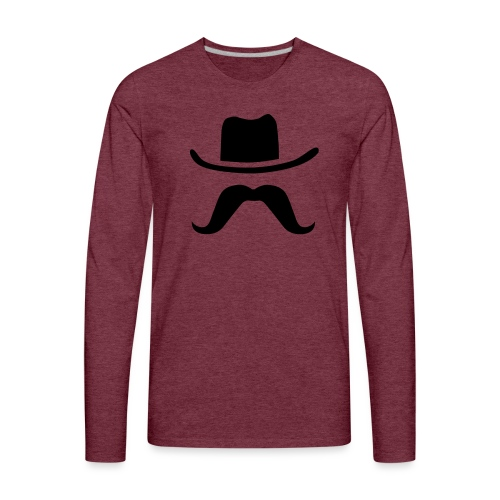 Hat & Mustache - Men's Premium Long Sleeve T-Shirt