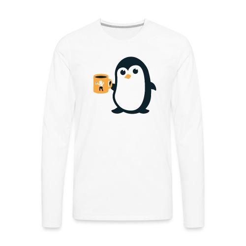 Cute Penguin Coffee - Men's Premium Long Sleeve T-Shirt