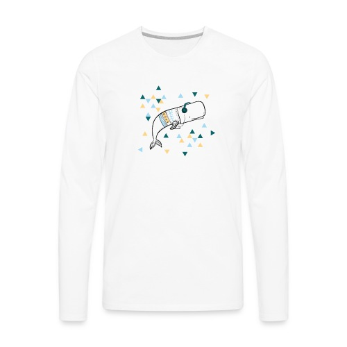 Music Whale - Men's Premium Long Sleeve T-Shirt