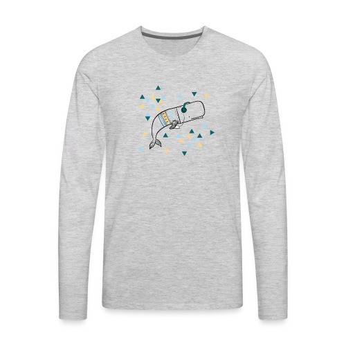 Music Whale - Men's Premium Long Sleeve T-Shirt