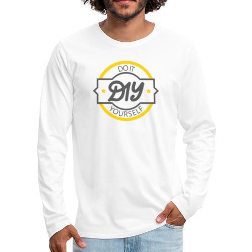 Do It Yourself | DIY | Minimal Badge-like Design - Men's Premium Long Sleeve T-Shirt