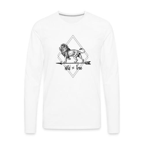 Wild & Free Lion - Men's Premium Long Sleeve T-Shirt