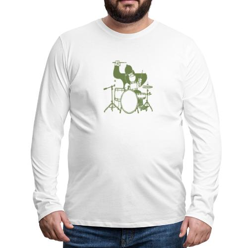 GORILLA PLAYING ON DRUMS - Men's Premium Long Sleeve T-Shirt