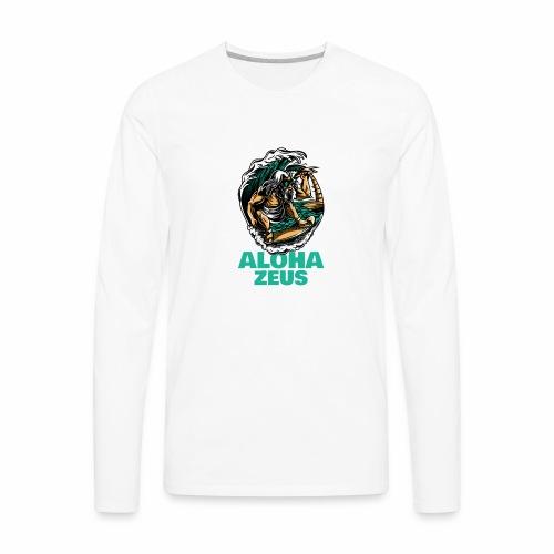 Aloha Zeus: Surfing God - Men's Premium Long Sleeve T-Shirt