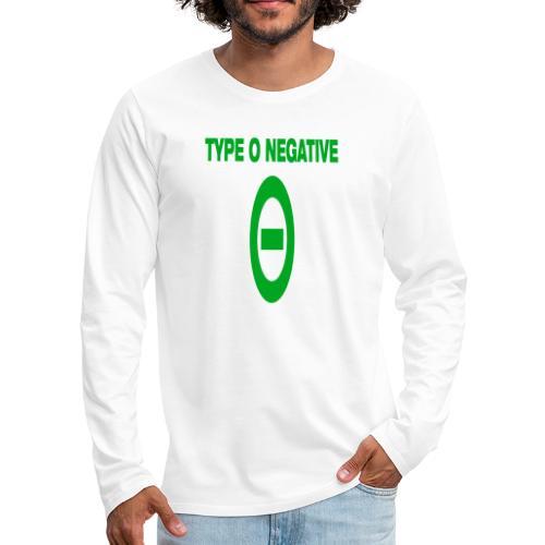 0 negative - Men's Premium Long Sleeve T-Shirt