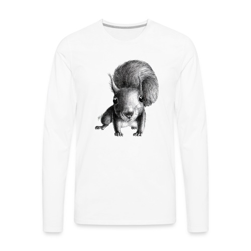 Cute Curious Squirrel - Men's Premium Long Sleeve T-Shirt