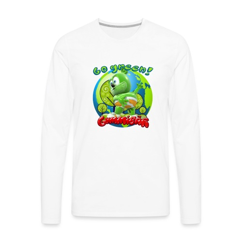 Gummibär Go Green Earth Day Earth - Men's Premium Long Sleeve T-Shirt
