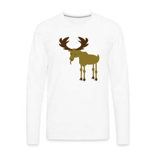 Moose - Men's Premium Long Sleeve T-Shirt