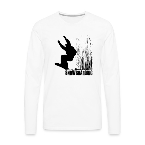 Snowboarding - Men's Premium Long Sleeve T-Shirt