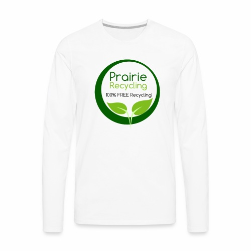 Prairie Recycling Official Logo - Men's Premium Long Sleeve T-Shirt