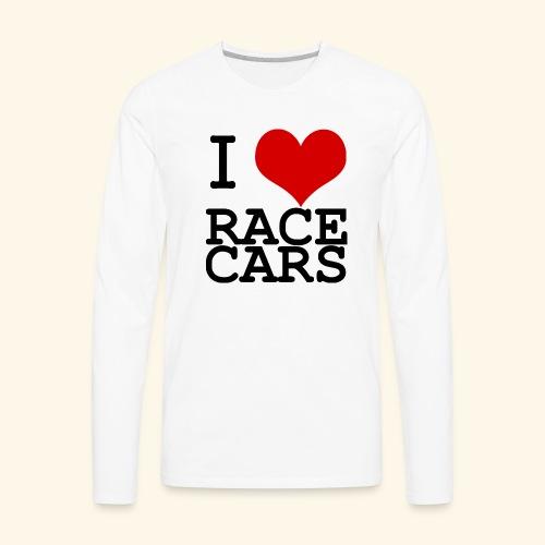 I Love Race Cars - Men's Premium Long Sleeve T-Shirt