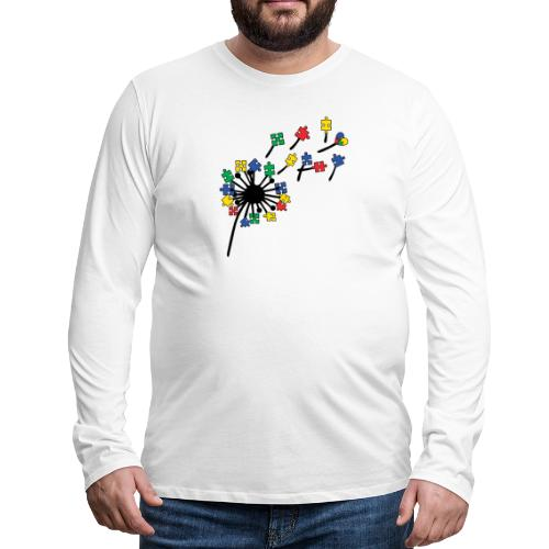 Autism Awareness Dandelion - Men's Premium Long Sleeve T-Shirt