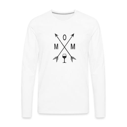 Mom Loves Wine (black ink) - Men's Premium Long Sleeve T-Shirt