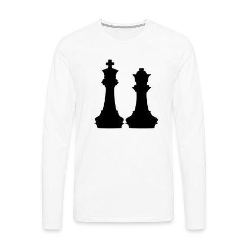 king and queen - Men's Premium Long Sleeve T-Shirt
