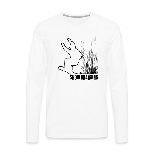 Snowboarder Snowboarding - Men's Premium Long Sleeve T-Shirt