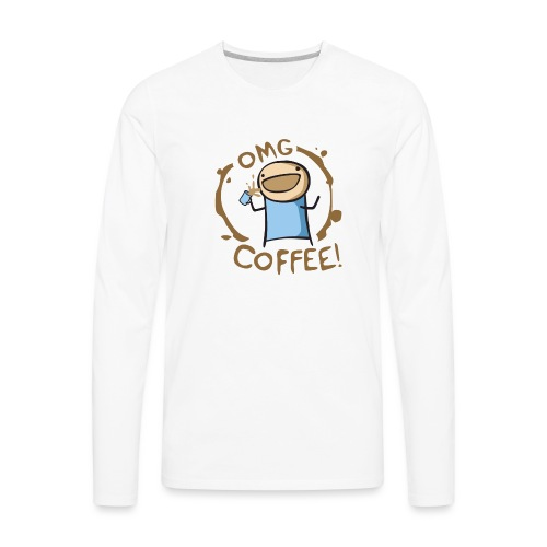 OMG COFFEE - Men's Premium Long Sleeve T-Shirt
