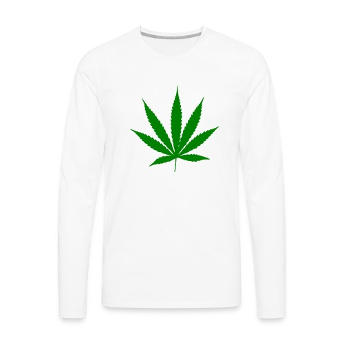 weed-symbol-png-2000px-Cannabis_leaf.svg.png - Men's Premium Long Sleeve T-Shirt