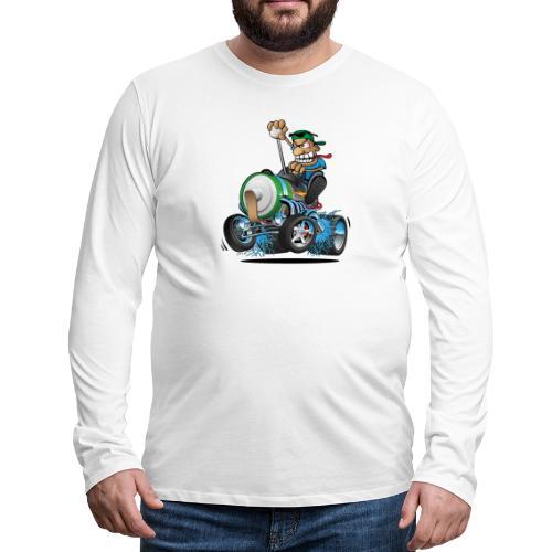 Hot Rod Electric Car Cartoon - Men's Premium Long Sleeve T-Shirt