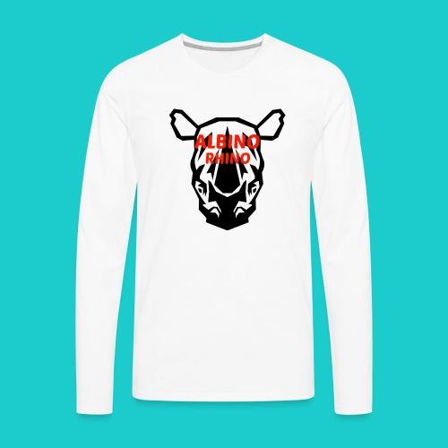 Youtube logo red - Men's Premium Long Sleeve T-Shirt
