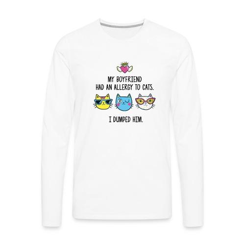 Allergy to cats - Men's Premium Long Sleeve T-Shirt