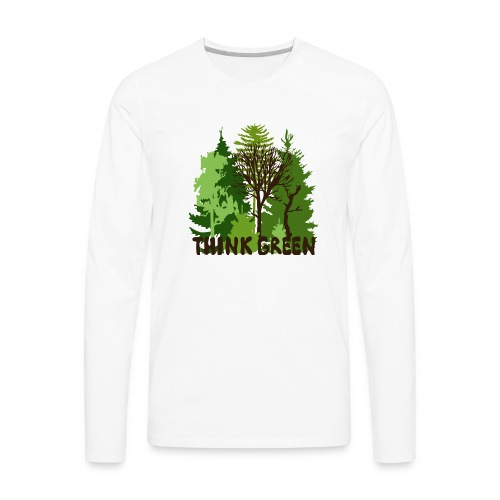 EARTHDAYCONTEST Earth Day Think Green forest trees - Men's Premium Long Sleeve T-Shirt