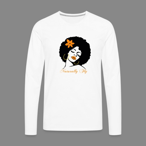 Naturally Fly Afro Diva - Men's Premium Long Sleeve T-Shirt
