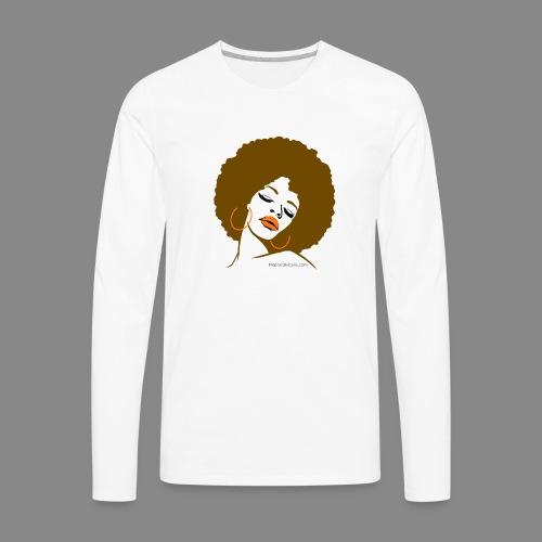 Afro Diva (Brown Hair) - Men's Premium Long Sleeve T-Shirt