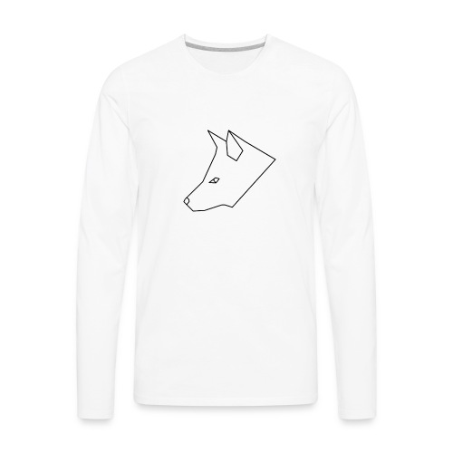 SacredFox Logo - Men's Premium Long Sleeve T-Shirt