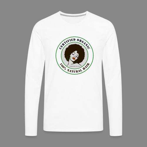 Organic Natural Hair - Men's Premium Long Sleeve T-Shirt