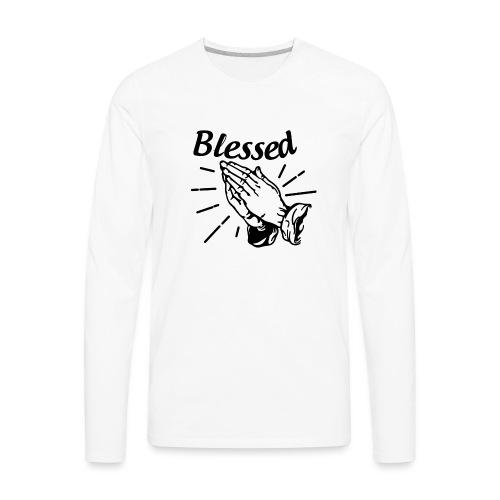 Blessed - Alt. Design (Black Letters) - Men's Premium Long Sleeve T-Shirt
