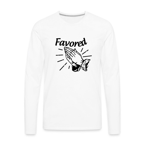 Favored - Alt. Design (Black Letters) - Men's Premium Long Sleeve T-Shirt