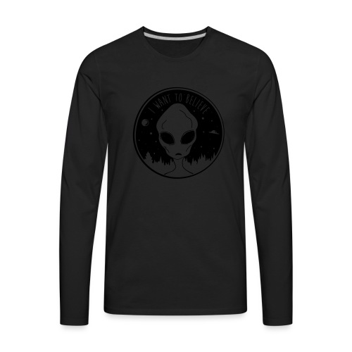 I Want To Believe - Men's Premium Long Sleeve T-Shirt