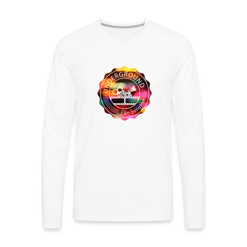Underground_Film_Initiative_Logo_Colour_Pop_Bokeh - Men's Premium Long Sleeve T-Shirt
