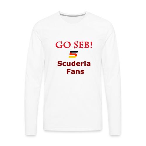 Go Seb! Scuderia Fans design - Men's Premium Long Sleeve T-Shirt