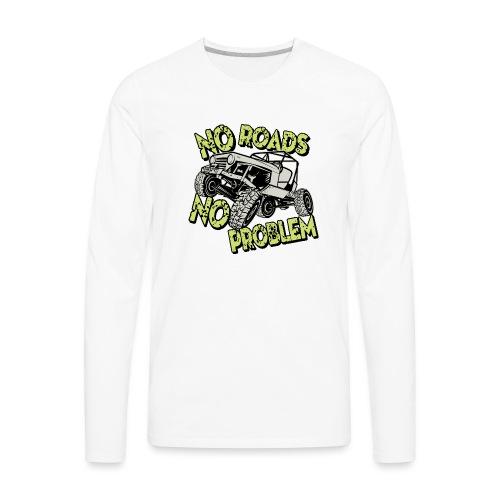Jeep No Roads No Problem - Men's Premium Long Sleeve T-Shirt
