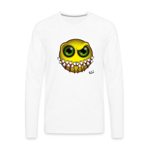 Smilez (Silly Facez) - Men's Premium Long Sleeve T-Shirt