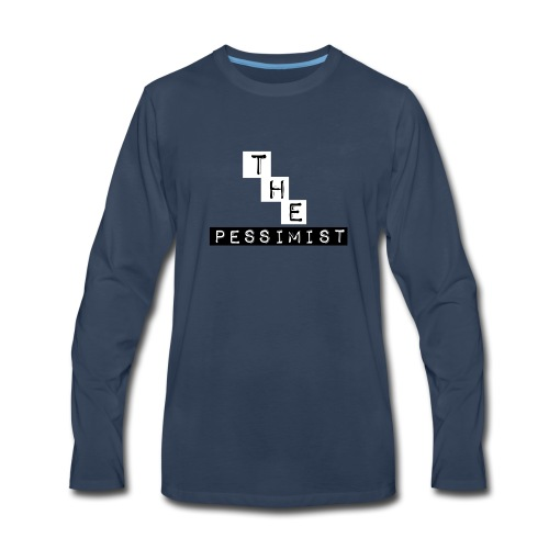 The Pessimist Abstract Design - Men's Premium Long Sleeve T-Shirt
