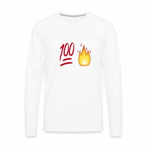 Fire & 100 Design - Men's Premium Long Sleeve T-Shirt