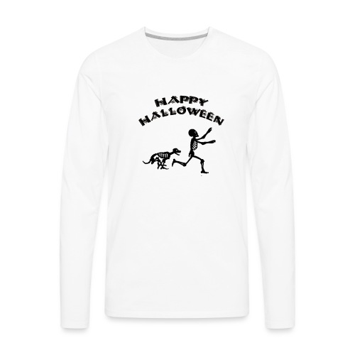 Halloween Boy and Dog - Men's Premium Long Sleeve T-Shirt