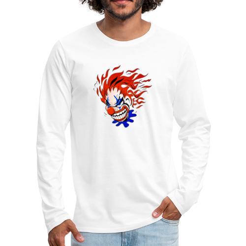 Psycho Crazy Clown Cartoon - Men's Premium Long Sleeve T-Shirt
