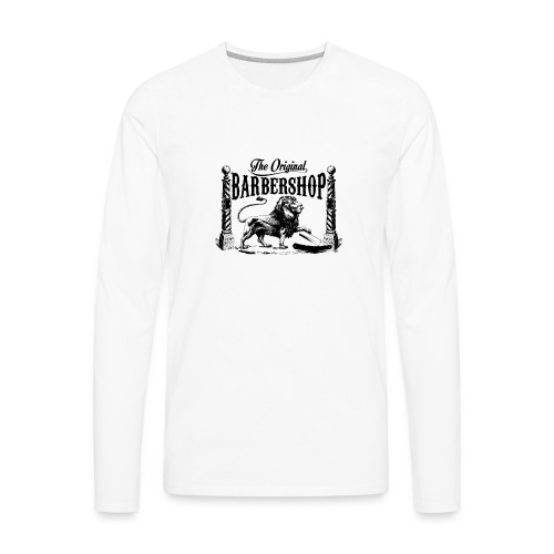 The Original Barbershop - Men's Premium Long Sleeve T-Shirt